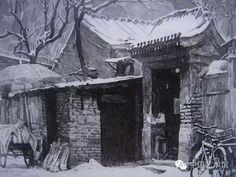 铅笔下的老北京胡同,像诗一样美!钟楼湾胡同