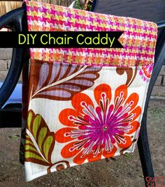 DIY Chair Caddy. to hold your ipad or book while you eat or whatever!