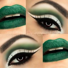 """""""One more #TB , close up of the makeup from the previous post  Saint Patrick's Day makeup inspiration  used @bhcosmetics take me to Brazil palette,…"""""""