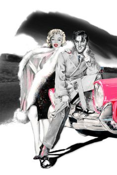 """Marilyn Monroe Art """"Two for the Road"""" new print available by Betty Harper"""