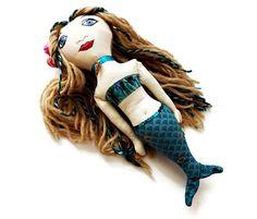 Mermaid Doll  Custom Rag Doll Mermaid  Little Mermaid Art