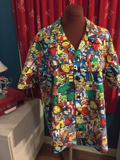 Avengers Mens Short Sleeve shirt - Small to XXL by foureyedgirl on Etsy
