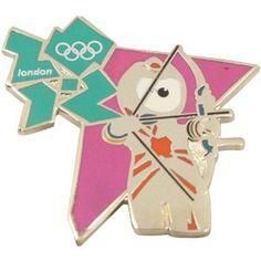 Price: $8.95 - Olympics London 2012 Olympics Mascot Archery Pin - TO ORDER, CLICK ON PHOTO
