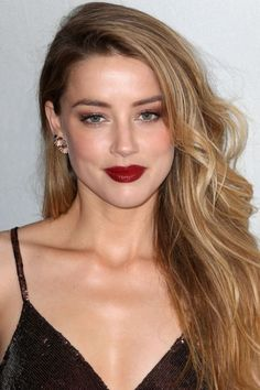 Amber Heard attends World Premiere Narrative: When I Live My Life Over Again during 2015 Tribeca Film Festival in New York (no. Make Up Looks, Amber Heard Hot, Blond, Soft Make-up, Red Carpet Makeup, Celebrity Makeup Looks, Provocateur, Dark Lips, Female Actresses