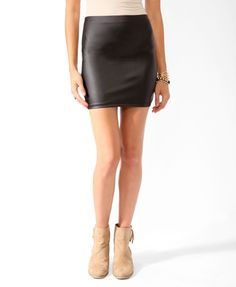 Faux Leather Bodycon Skirt   FOREVER21 - 2017306990