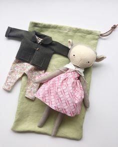 "the foundlings ""wendy"" playset | handmade cloth lamb doll & wardrobe"