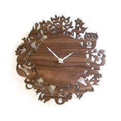 Woodland Walnut Wall Clock