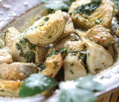 Roasted Artichoke Hearts with Parmesan Cheese