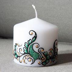 Роспись свечей — идеи для вдохновения