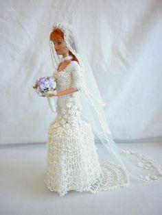 Little Miss' Crochet Barbie Wedding Dress