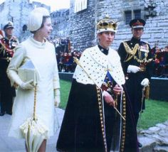 Queen Elizabeth, Prince Charles upon being created Prince of Wales