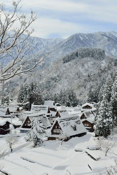 Winter - Gokayama-Ainokura, Japan