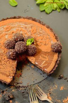 fa95a15e931db Triple Brigadeiro Cheesecake Tart - via this blog,