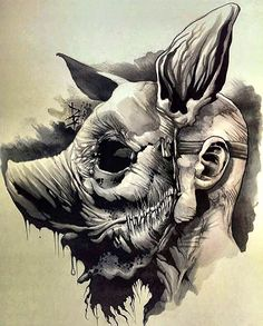Pin by asa on art refs in 2019 tattoo artists, art, tattoo sketches. Scary Drawings, Dark Art Drawings, Tattoo Drawings, Ink Tattoos, Tattoo Sketches, Arte Horror, Horror Art, Design Tattoo, Tattoo Designs