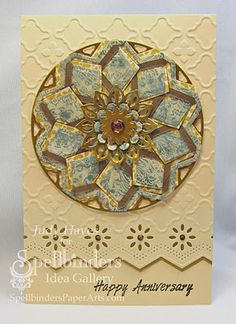 Anniversary Card created by Judy Hayes using Spellbinders products and posted on her blog Creating ... My Style