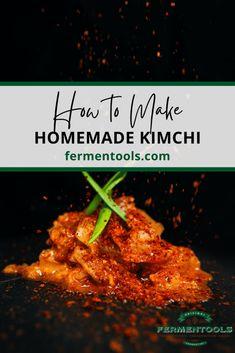 Make Delicious Homemade Kimchi | Fermentools Fermentation Recipes, Canning Recipes, Kimchi Recipe, Recipe Filing, Asian Recipes, Asian Foods, Fermented Foods, How To Make Homemade, International Recipes