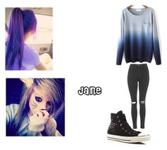 """""""Untitled #26"""" by imbored-477 ❤ liked on Polyvore featuring Topshop and Converse"""