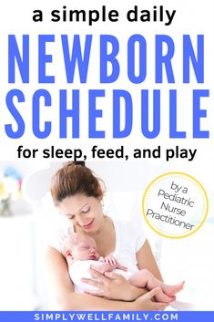 Discover a daily newborn schedule that works for you and your baby. Includes tips on a feeding schedule, nap schedule, and tummy time schedule. Plus, a special section for the breastfeeding mother. Baby Shot Schedule, Nursing Schedule, Newborn Schedule, Toddler Schedule, Indoor Activities For Toddlers, Toddler Learning Activities, Baby Wise, Newborn Needs