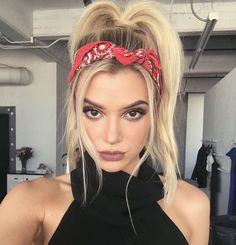 Bandana ponytail