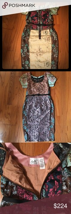 Byron Lars for Anthropologie, Jacquard Dress, sz 6 Byron Lars Embroidered Brocade Dress, size 6. I am in love with this dress. I bought it about a year ago just because I loved it but had no event to wear it to. I don't want to let it go but my size has changed so much!! I am listing it NWT but It didn't come with tags, only with the original bag that has the SKU direct from Anthropologie. Anthropologie Dresses