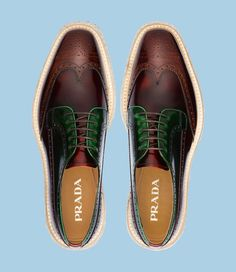 ∅* Chocolate and mint *∅    #prada #creepers #mensshoes #falltrends  :::Found at @whitelist