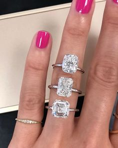 Engagement Rings From top to bottom: Cushion Engagement Ring, Radiant Engagement Ring, Asscher Engagement Ring - Radiant Engagement Rings, Classic Engagement Rings, Platinum Engagement Rings, Beautiful Engagement Rings, Engagement Bands, Solitaire Engagement, Custom Wedding Rings, Wedding Jewelry, Wedding Bands