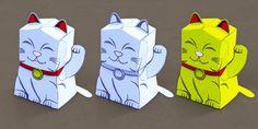 Fortune Cat Paper Model  - twinkl