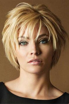 Short Hairstyles Women short hair styles 2017 for women, Published at Mayron Teeuwisse like cool hairstyles ideas in . Short Haircuts With Bangs, Short Layered Haircuts, Short Hairstyles For Thick Hair, Haircuts For Fine Hair, Haircut For Thick Hair, Short Hair With Layers, Short Hair Cuts For Women, Cool Hairstyles, Hairstyles 2018