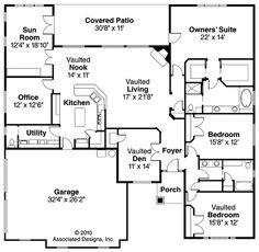 Winterberry 30-742 floor plan from Associated Designs