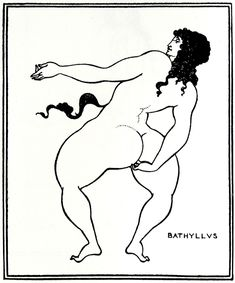 Bathyllus taking the pose - Aubrey Beardsley
