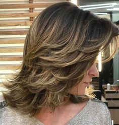 80 Sensational Medium Length Haircuts for Thick Hair - Mid-Length Layered Haircut - Mid Length Layered Haircuts, Cute Shoulder Length Haircuts, Shoulder Length Layered, Medium Hair Cuts, Medium Hair Styles, Short Hair Styles, Medium Cut, Medium Long, Hair Layers Medium