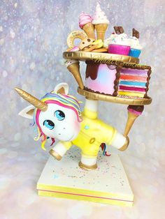 Tower cake gourmet unicorn by Cindy Sauvage