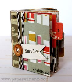 PaperVine: Paper Mini Album Tutorial - Perfect for Mothers Day!