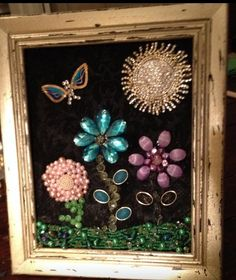 Jewelry art framed by memamashops on Etsy, $55.00