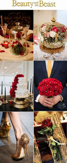 Disney Inspired Beauty and Beast themed Wedding Ideas