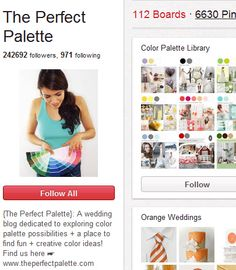 {The Perfect Palette}: A wedding blog dedicated to exploring color palette possibilities + a place to find fun + creative color ideas!