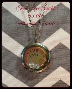 True Love Locket 53.00 with chain shown 76.00