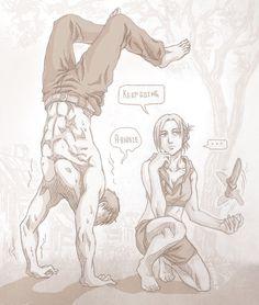 Shingeki no Kyojin┋Атака Титанов┋Attack on Titan Attack On Titan Comic, Attack On Titan Ships, Attack On Titan Fanart, Eren And Annie, Attack On Titan Aesthetic, Annie Leonhart, Aot Characters, Mini Comic, Levi Ackerman