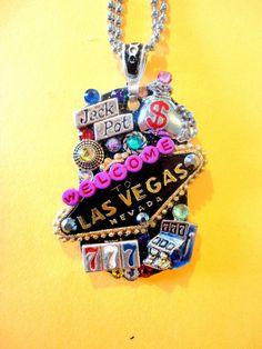 Las Vegas Dog Tag Pendant Number 740 by BradosBling on Etsy, $29.99