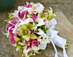 I want as my wedding bouquet (Orchids & Lilies) Orchid Bouquet Wedding, Wedding Flowers, Lily Bouquet, Boquet, Wedding Colors, Wedding Best Wishes, Cymbidium Orchids, Floral Arrangements, Just In Case