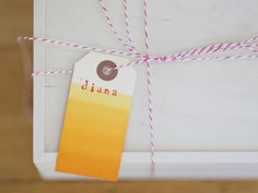 DIY: Dip Dye Ombre Tags