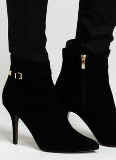 Black Suede High Buckle Boots, £149, mint velvet Buckle Boots, Black Suede, Heeled Boots, Mint, Footwear, Velvet, Clothes For Women, Luxury, Heels