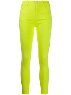 J Brand neon skinny jeans - Yellow Neon Jeans, J Brand, Women Wear, Skinny Jeans, Clothes For Women, Denim, Yellow, Women's Clothing, Cotton