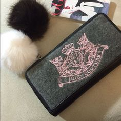 Flashsalejuicy Couture Grey And Pink Wallet