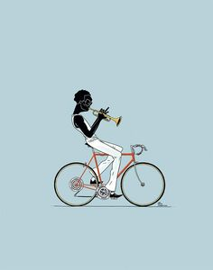 Miles By Bicycle music Bicycle bike cycle sykkel bicicleta vélo bicicletta rad racer wheels illustration posters graphics design biking ride cycling riding Bike Poster, Poster S, Print Poster, Cycling Art, Cycling Bikes, Urban Cycling, Bicycle Illustration, Illustration Art, Blue Bg