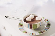 Marshmallow in my hot chocolate by Honey Pie!, via Flickr