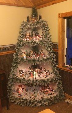 Christmas-Village tree idea