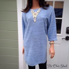 Topshop Periwinkle Textured Tunic Warm and chic! Unique textured cozy fabric. Pretty periwinkle blue. Zip back, long, like new! The Chic Shed; A Current and Classic Fashion Curation.  10% OFF BUNDLES I ❤️ THE OFFER BUTTON ❌NO PP, TRADES, HOLDS❌ Topshop Tops Tunics