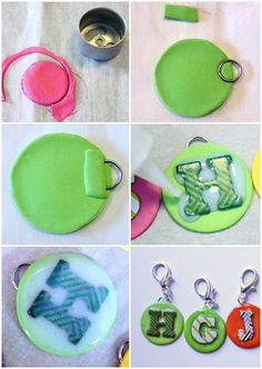 Making DIY Clay Initial Jewelry for kids. A few simple steps to personalized accessories
