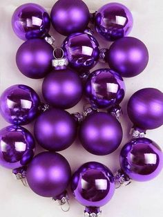 Ahh purple. Makes me feel happy and in ornament design? YAY!
